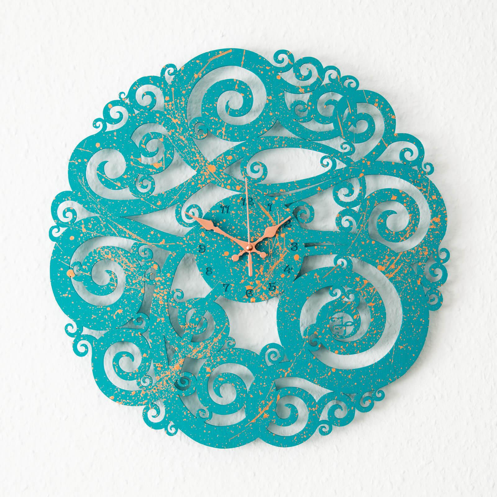 Elegante Wanduhr mit leisem Uhrwerk - für Büro, Praxis oder Rezepzion