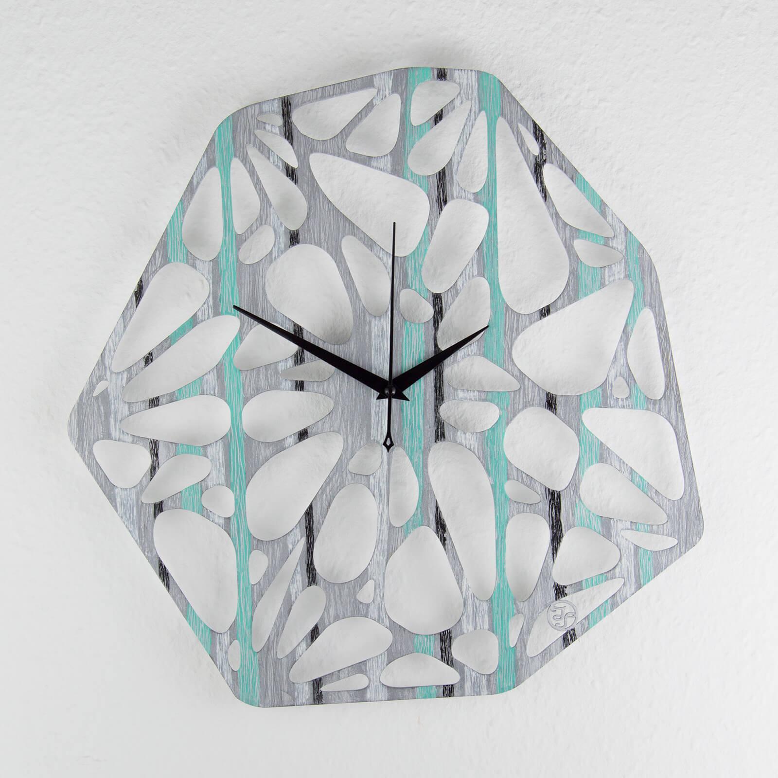 """Exclusive Wanduhr """"Silbernebel"""" Aus Holz- Wanduhren Design"""