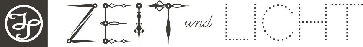"""Wanduhren Design Atelier """"Zeit und Licht"""" Logo"""